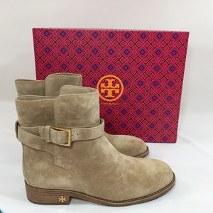 Tory Burch Suede Booties Brooke Size 7